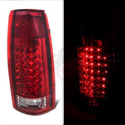 GMC Sierra 1988-1998 LED Tail Lights Red Clear