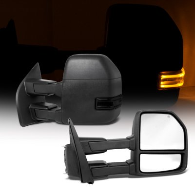 Ford F250 Super Duty 2017-2021 Power Heated Towing Mirrors Smoked LED Signal