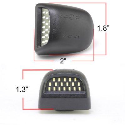 Chevy Silverado 1999-2002 White LED License Plate Light Kit