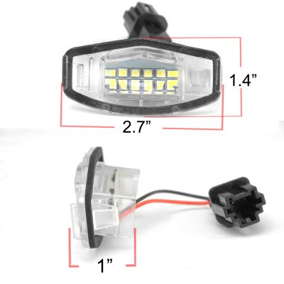 Honda Accord Sedan 2003-2007 White LED License Plate Light Kit