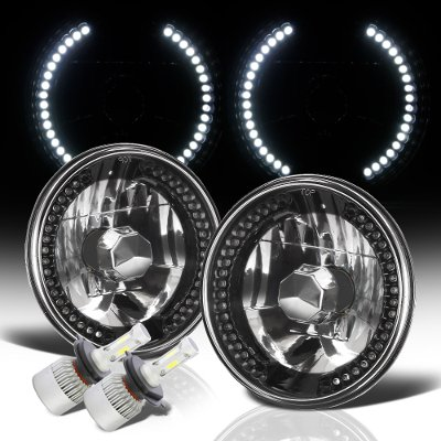 Porsche 911 1969-1986 Black Chrome LED Headlights Kit