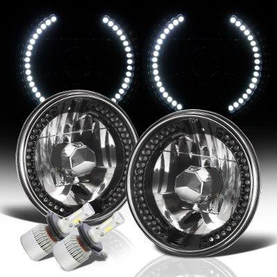 VW Rabbit 1975-1978 Black Chrome LED Headlights Kit