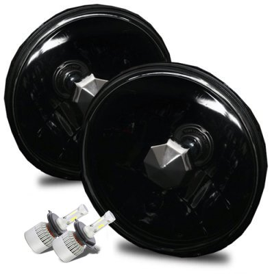 Jeep Wrangler 1997-2006 Black LED Headlights Kit