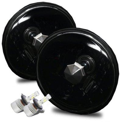 VW Rabbit 1975-1978 Black LED Headlights Kit