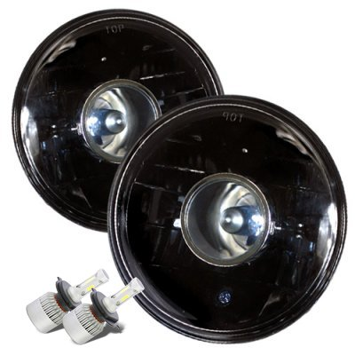 Chevy Suburban 1967-1973 Black LED Projector Headlights Kit