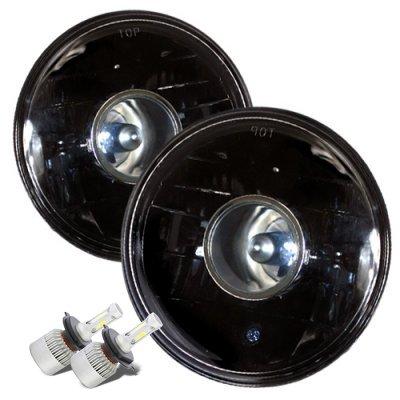 VW Beetle 1971-1979 Black LED Projector Headlights Kit