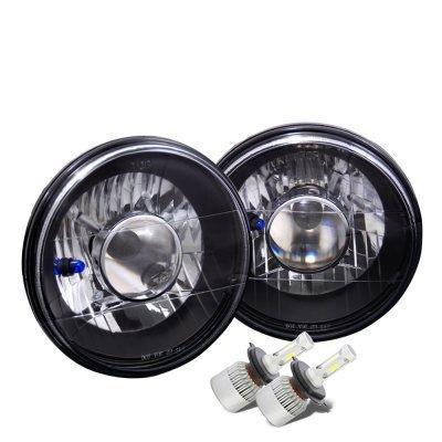 Mazda RX7 1978-1985 Black Chrome LED Projector Headlights Kit