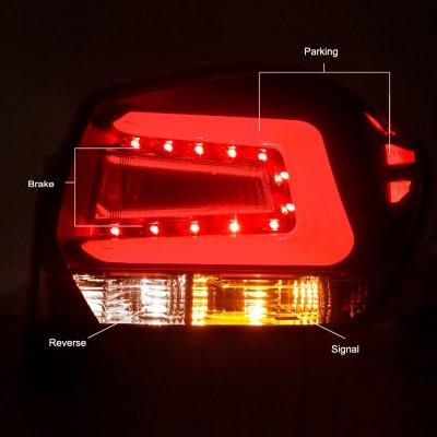 Subaru Impreza Hatchback 2012-2016 Black Smoked LED Tail Lights