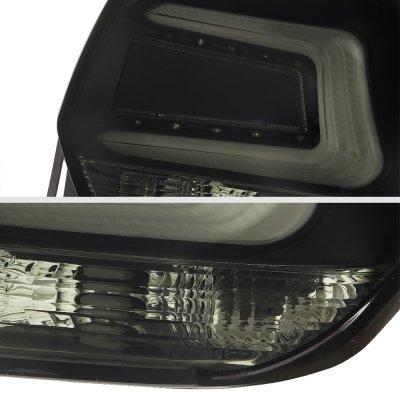 Subaru Crosstrek 2016-2017 Black Smoked LED Tail Lights