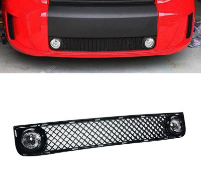 Scion xB 2008-2010 Black Front Grill Clear Fog Light