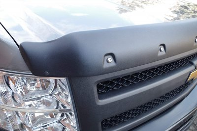 Chevy Silverado 1500 2007-2013 Hood Bug Deflector Pocket Rivet Textured Tough Formfit Guard