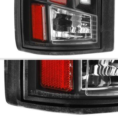 Chevy 2500 Pickup 1988-1998 Black Tube LED Tail Lights