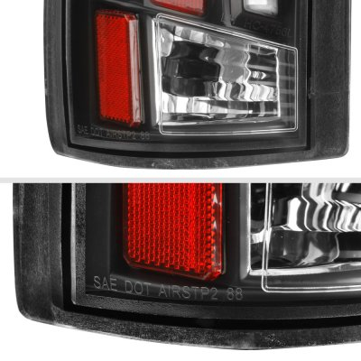 Chevy Silverado 1988-1998 Black Tube LED Tail Lights