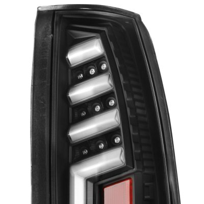 GMC Sierra 1988-1998 Black Tube LED Tail Lights