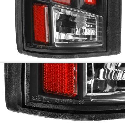 Cadillac Escalade 1999-2000 Black Red Tube LED Tail Lights
