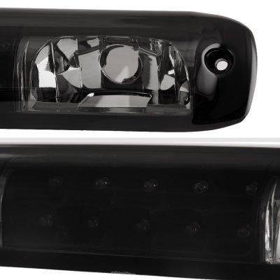 Chevy Silverado 2500HD 2001-2006 Black Smoked LED Third Brake Light
