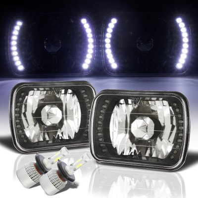 Dodge Ram 350 1981-1993 LED Black Chrome LED Headlights Kit