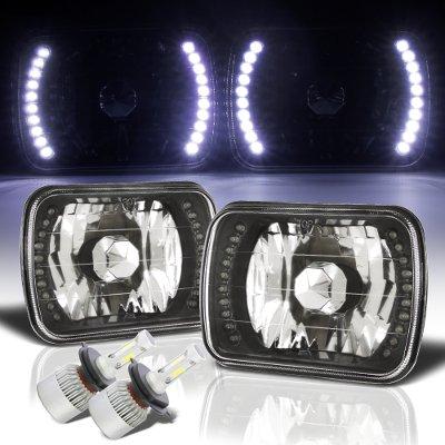 Jeep Wrangler YJ 1987-1995 LED Black Chrome LED Headlights Kit