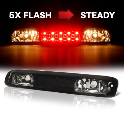 GMC Sierra 1999-2006 Black Smoked Flash LED Third Brake Light