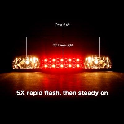 GMC Sierra 1500HD 2001-2006 Black Smoked Flash LED Third Brake Light