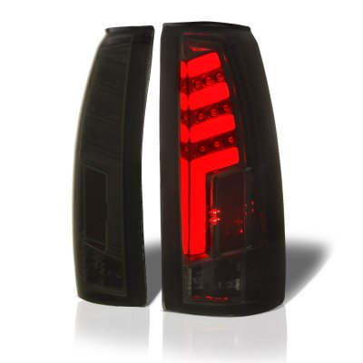 Chevy Silverado 1988-1998 Smoked Tube LED Tail Lights