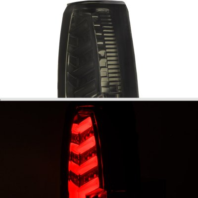GMC Sierra 2500 1988-1998 Smoked Tube LED Tail Lights