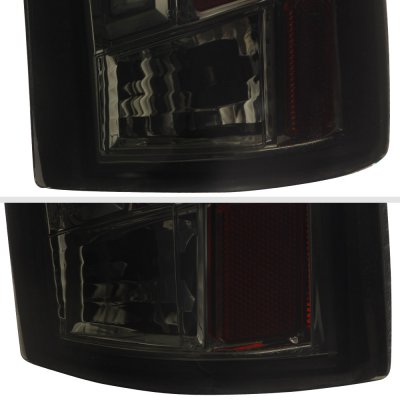 GMC Yukon Denali 1999-2000 Smoked Tube LED Tail Lights