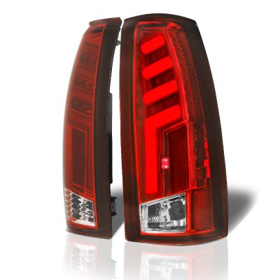 GMC Sierra 1988-1998 Tube LED Tail Lights Red