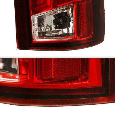 GMC Sierra 1988-1998 Tube LED Tail Lights Red