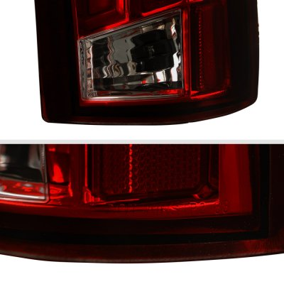 Chevy Silverado 1988-1998 Tinted Tube LED Tail Lights