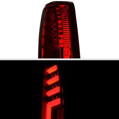 GMC Sierra 1988-1998 Tinted Tube LED Tail Lights