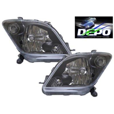 Scion xA 2004-2005 Depo Black Euro Headlights