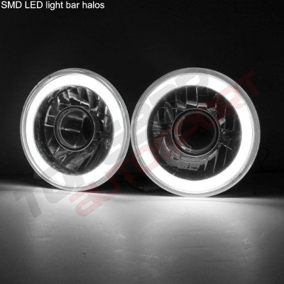 Chevy C10 Pickup 1967-1979 Halo Tube Sealed Beam Projector Headlight Conversion