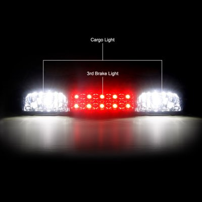 Chevy Silverado 3500 2001-2006 LED Third Brake Light Smoked