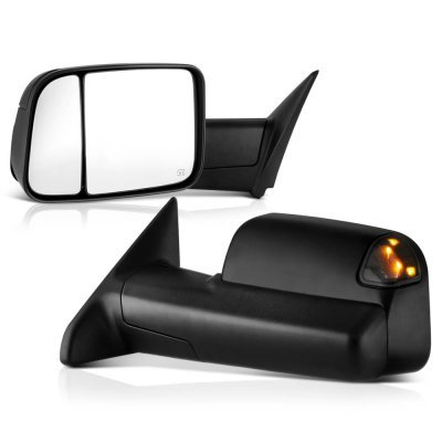 Dodge Ram 2009-2018 Power Folding Towing Mirrors Smoked LED Signal Heated