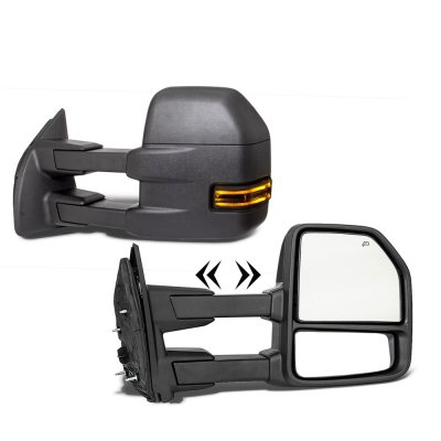 Ford Excursion 2003-2005 New Towing Mirrors Smoked LED Lights Power Heated