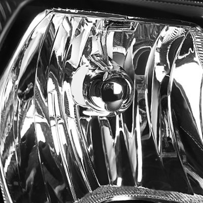 Chrysler Voyager 2001-2003 Black Euro Headlights