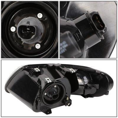 Chrysler Grand Voyager 2001-2002 Black Euro Headlights