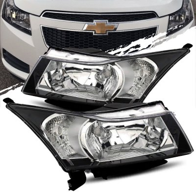 Chevy Cruze 2010-2015 Black Headlights