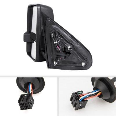 GMC Sierra 2014-2018 Power Folding Towing Mirrors LED Lights Heated