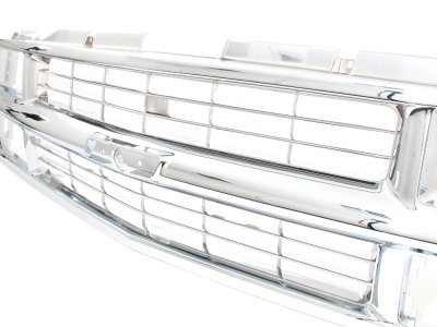 Chevy 3500 Pickup 1988-1993 Chrome Grille and LED DRL Headlights Set