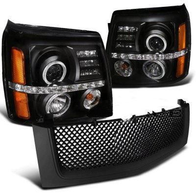 Cadillac Escalade 2002-2006 Black Grille and Projector Headlights