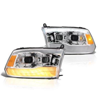 Dodge Ram 2009-2018 DRL Projector Headlights LED Signal Lights