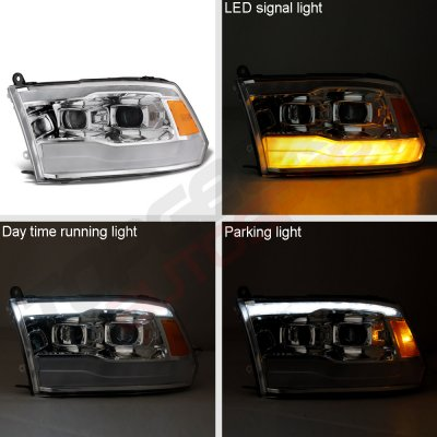 Dodge Ram 3500 2010-2018 DRL Projector Headlights LED Signal Lights