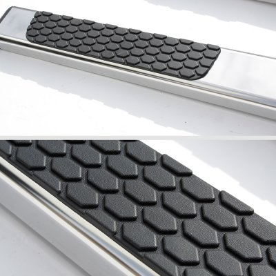 Dodge Ram 1500 Crew Cab 2019-2021 Bed Access Running Boards Side Steps Stainless 4 Inches