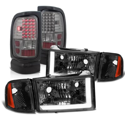 Dodge Ram 2500 1994-2002 Smoked DRL Headlights LED Tail Lights