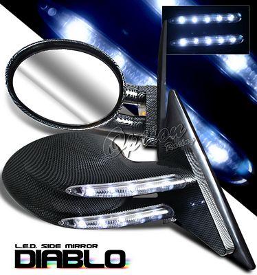 Ford Focus 2000-2004 CF Diablo Style Power Side Mirror