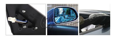 Honda Civic Coupe 1996-2000 Carbon Fiber Cover Spoon Style Blue Len Power Side Mirror