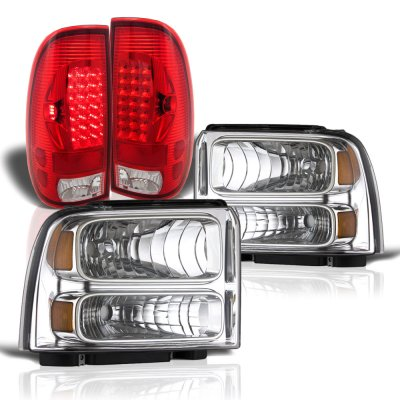 Ford F550 Super Duty 2005-2007 Headlights and LED Tail Lights