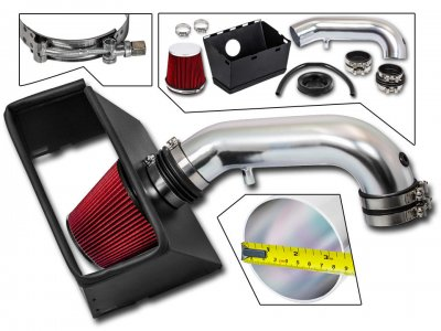 Dodge Ram 2500 2009-2015 Cold Air Intake with Red Air Filter
